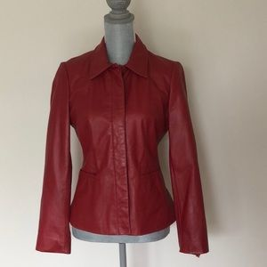 Nine West Red Learher Jacket
